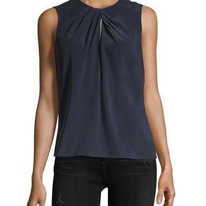 Rebecca Taylor Silk Sleeveless Knot Top - 6/S